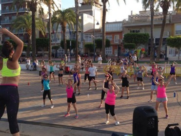 San Javier free exercise classes on the beach in Santiago de la Ribera and La Manga del Mar Menor