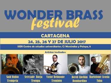 24th to 27th July free concerts in the Cartagena Wonder Brass Festival