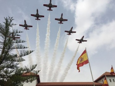 25th July Aerobatics display by the Eagle Patrol in Santiago de la Ribera