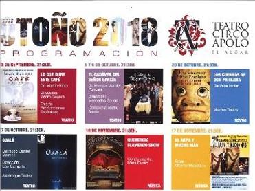 Programación de Otoño del Teatro Apolo de El Algar