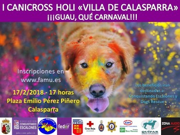 17th February 1st Canicross Holi Villa de Calasparra
