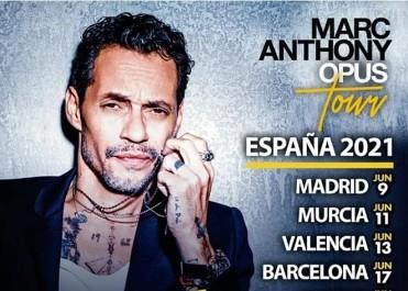 Concierto Marc Anthony - Opus Tour en Murcia. NUEVAS FECHAS