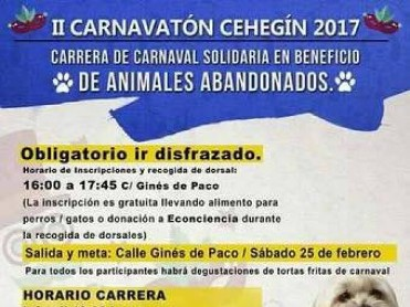 25th February Cehegin Carnival run for abandoned animals