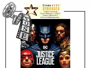23rd November: English language cinema at the Parque Almenara in Lorca: Justice League