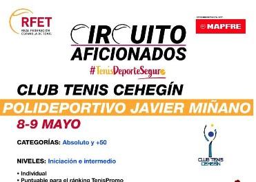 Circuito de aficionados de tenis en Cehegín