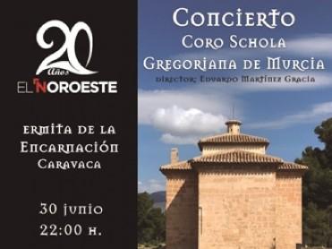 30th June Gregorian chant free concert in Caravaca de la Cruz