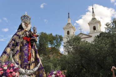 22nd February The Virgen de la Fuensanta comes down into Murcia for Easter