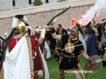 Lucha de carthagineses y romanos