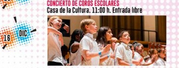 16th December free entry choral concert by local schoolchildren Alhama de Murcia