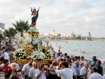 15th August Festivity of the Virgen del Asunción in Los Alcázares