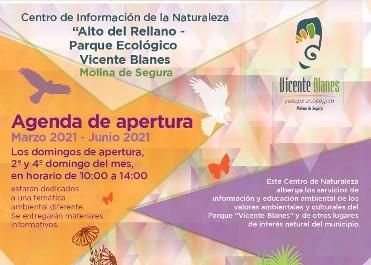 PROGRAMACIÓN CENTRO DE INFORMACIÓN DE LA NATURALEZA  ALTO DEL RELLANO-PARQUE ECOLÓGICO VICENTE BLANES
