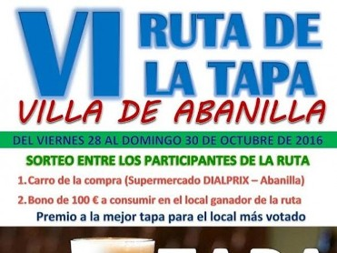 28th to 30th October Abanilla Tapas Route