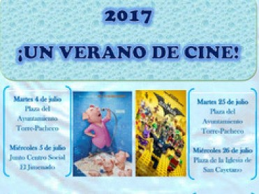 25th and 26th July free open-air cinema Torre Pacheco and San Cayetano
