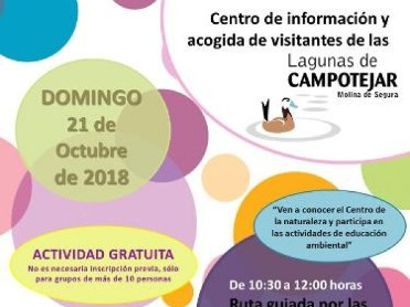 21st October Family workshop and guided tour of the Lagunas de Campotejar in Molina de Segura