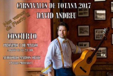 3rd March David Andreu in concert as part of Totana Carnival