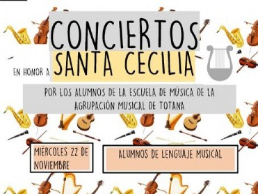 22nd, 23rd and 24th November free entry concerts for Saint Cecilia in Totana