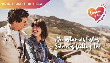 OCTUBRE. PAQUETE 3 ENTRADAS A ESPACIOS INTERIORES DEL CASTILLO DE LORCA.