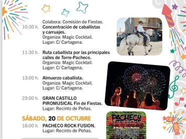 20th October Pacheco Rock Fusion in Torre Pacheco