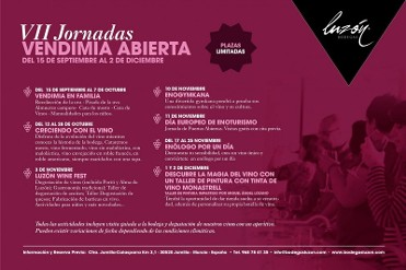 Until 2nd December, grape harvest activities at Bodegas Luzón in Jumilla