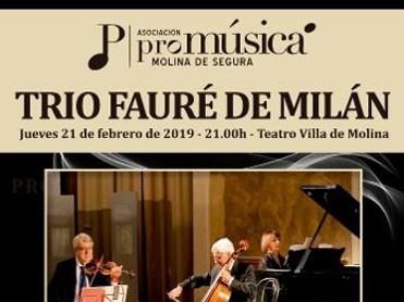 Trío Fauré de Milán en Teatro Villa