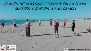 Tai Chi on the beach in Á�guilas every Tuesday and Thursday