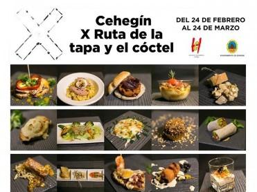 Until 24th March, 10th annual tapas route in Cehegín