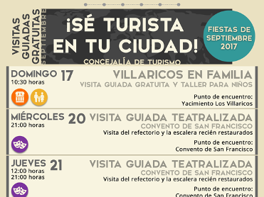 20th, 21st and 23rd September free guided theatrical tour of the Convent of San Francisco in Mula