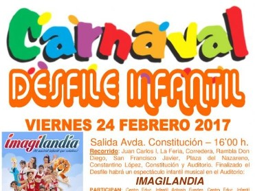 24th and 26th February Children's carnival in Alhama de Murcia