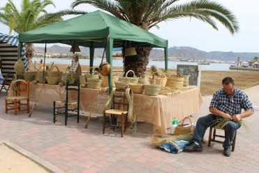 20th January Puerto de Mazarrón: Artisan market by the seafront