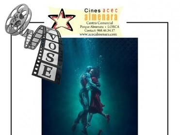 22nd February the Shape of Water: ENGLISH LANGUAGE cinema at the Parque Almenara Lorca