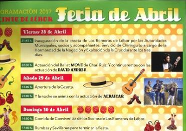 28th to 30th April Feria de Abril in LÁ©bor, Totana
