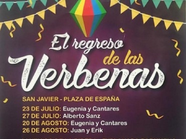 19th August free open air dance with live music in Santiago de la Ribera