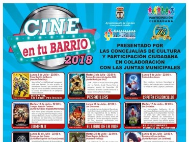 Free open-air cinema in outlying districts of Águilas