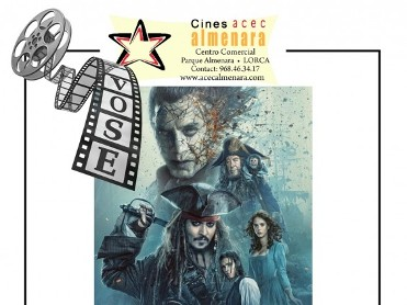 1st June ENGLISH language cinema at the Parque Almenara in Lorca: Pirates of the Caribbean 5