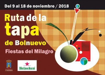 9th to 18th November, tapas route in Bolnuevo to coincide with the annual fiestas