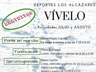 FREE summer tone-up activities on Los Alcázares beaches during July and August