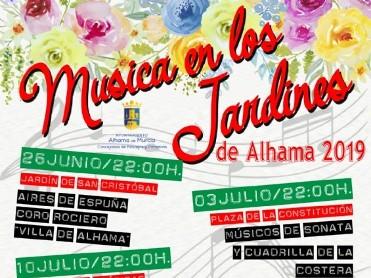 Wednesday 24th July Free folk music in Alhama de Murcia; Jardín del Calvario