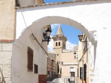 Arco de los Reyes Católicos - Hornacina de San Blas