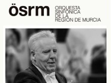 18th January 2020 flautist Juan Antonio Nicolás, harpist José Antonio Domené and conductor Georg Mark with the Murcia Symphony Orchestra at the Auditorio Víctor Villegas in Murcia