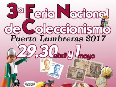 29th and 30th April, 1st May national collector's fair in Puerto Lumbreras