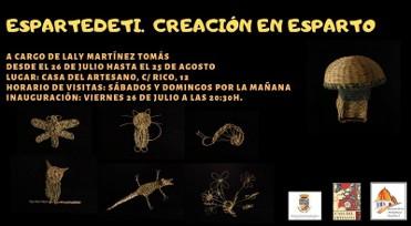 Until 25th August, esparto grass weaving exhibition in Jumilla