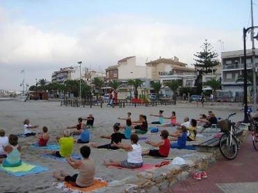 Free Tai-Chi and Pilates on the beach in San Pedro del Pinatar during July and August