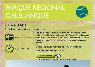RUTA GUIADA CALBLANQUE CON LOS 5 SENTIDOS - P.R. CALBLANQUE