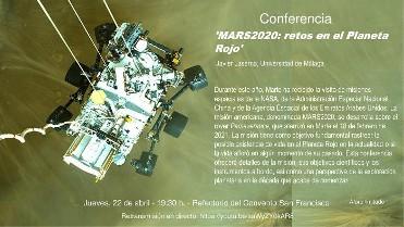 Conferencia MARS2020: retos en el Planeta Rojo