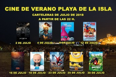 Free summer cinema in Puerto de Mazarrón during July