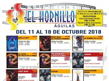 16th October ENGLISH language cinema at the Multicines Hornillo in Águilas