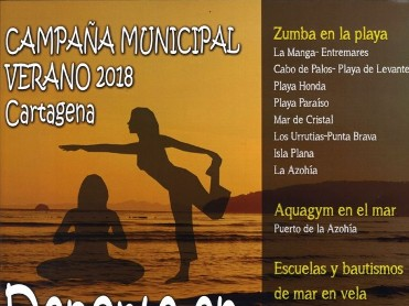 Free Zumba on the beaches of the Cartagena municipality