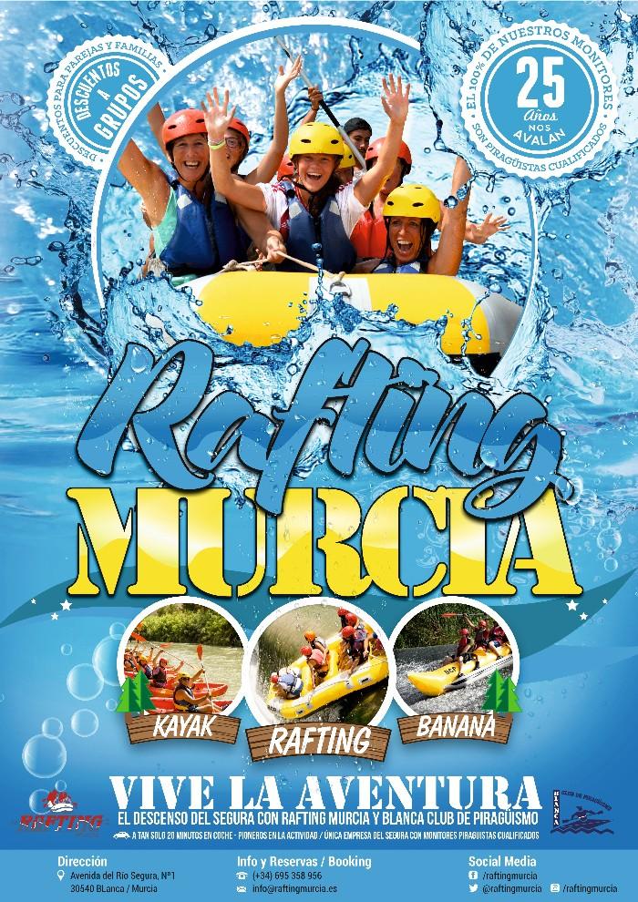 Blanca Club de Piragüismo. Rafting Murcia