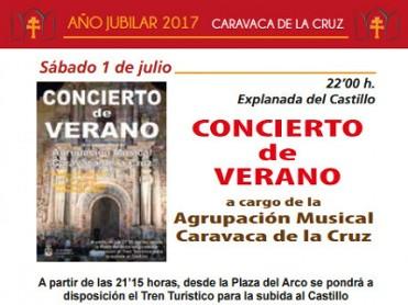 Saturday 1st July summer concert in Caravaca de la Cruz