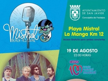 19th August: Coti free concert in La Manga del Mar Menor - Mistral Beach Festival
